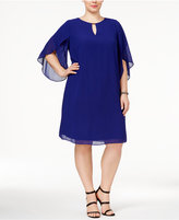 Jessica Howard Plus Size Keyhole Chiffon Dress