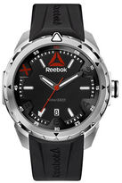 Reebok Impact Stainless Steel and Silicone Black Strap Watch