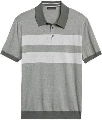 Banana Republic Silk Cotton-Cashmere Sweater Polo Shirt