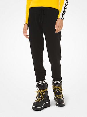 MICHAEL Michael Kors MK Logo-Trim Nylon-Blend Joggers - Black - Michael Kors