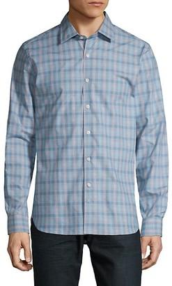 Hickey Freeman Checkered Long-Sleeve Shirt