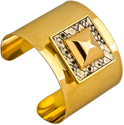Ted Rossi Ivory Pyramid Icon Cuff