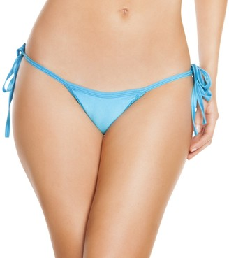 Roma F.C. Roma Women's Solid Low Rise Tie Side Thong Bikini Bottom