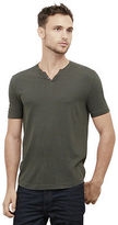 Kenneth Cole Short-Sleeve Striped Henley