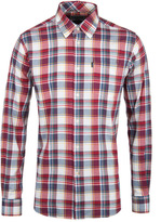 Barbour Warren Red & White Checked Tailored Fit Flannel Shirt