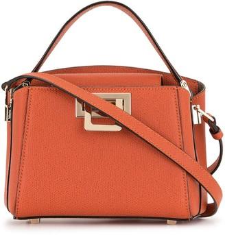 Valextra Pebbled Flip-Lock Shoulder Bag
