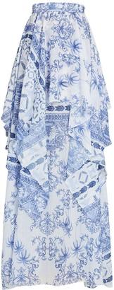 PatBO Amalfi Chiffon Maxi Skirt