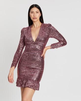 Rebecca Vallance Mona Ruched Mini Dress