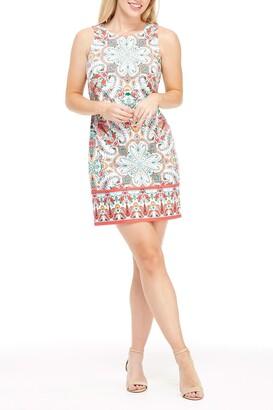 London Times Floral Paisley Sleeveless Sheath Dress