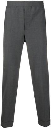 Neil Barrett Elasticated-Waist Tapered Trousers