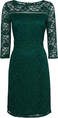 Wallis Green Lace 3/4 Sleeve Dress