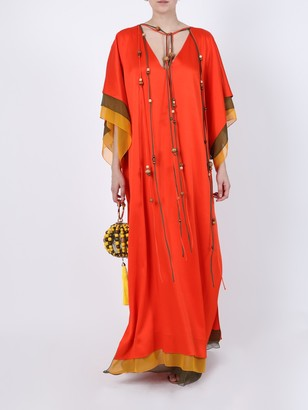 Orange Silk Maxi Dress