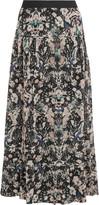 IRO Amita printed voile maxi skirt