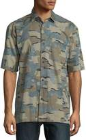 Dries Van Noten Men's Camouflage Button-Down Shirt