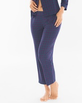 Soma Intimates Ankle Pajama Pants Fine Geo Navy