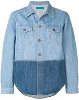 Paura colour block denim jacket