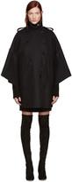 Valentino Black Cape Coat