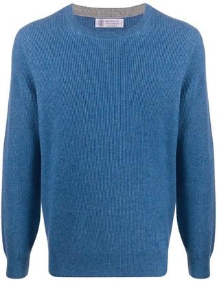 Brunello Cucinelli Ribbed-Knit Cashmere Jumper