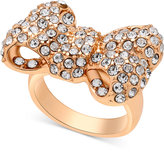GUESS Gold-Tone Crystal Bow Ring