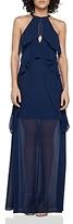 BCBGeneration Ruffle Overlay Maxi Dress