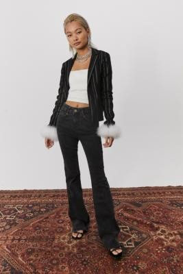 Miss Sixty UO Exclusive Washed Black Denim Flare Jeans - Black 24 at Urban Outfitters