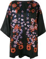 Talbot Runhof floral embroidered tunic - women - Silk/Polyamide/Acetate/Metallized Polyester - 36