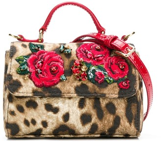 Dolce & Gabbana Embroidered Roses Shoulder Bag