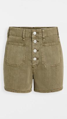 Rag & Bone Super High Rise Military Shorts