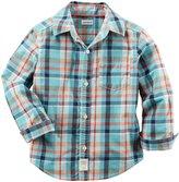 Carter's Check Button Down Shirt (Toddler/Kid) - Plaid - 5