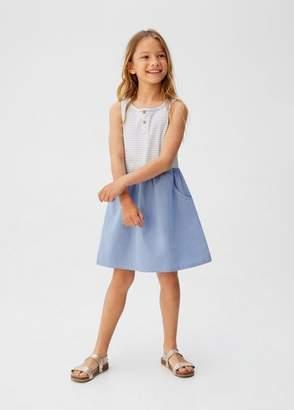 MANGO Striped contrast dress