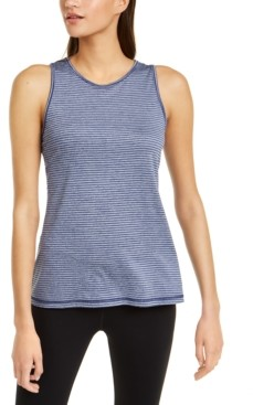 Ideology Striped Keyhole Tank Top, Created for Macy's