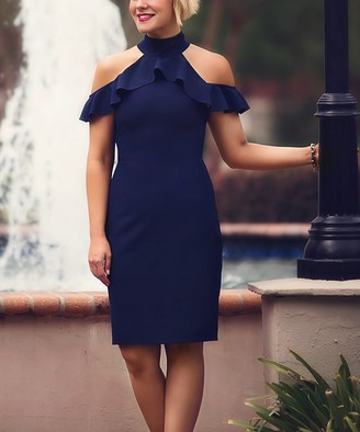 Trish Scully Women's Special Occasion Dresses Navy - Navy Triana Dress - Women