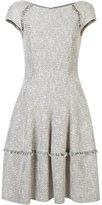 Talbot Runhof flared dress - women - Cotton/Polyamide/Polyester/Wool - 36