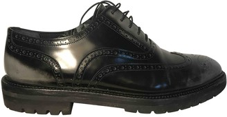 Burberry Anthracite Patent leather Lace ups