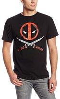 Marvel Deadpool Men's Crossbones T-Shirt, Black, Large