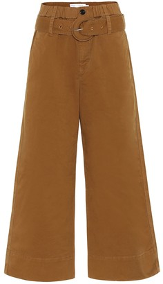 Proenza Schouler Belted high-rise wide-leg pants