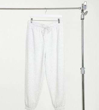 Topshop Petite harley sweatpants in light gray