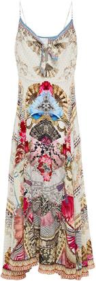 Camilla Montmarte Knotted Printed Silk Crepe De Chine Maxi Dress