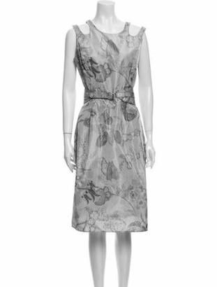 Oscar de la Renta 2008 Midi Length Dress