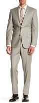 Simon Spurr Grey Woven Two Button Notch Lapel Regular Fit Suit