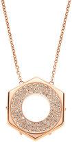 Swarovski Rose Gold-Tone Bolt Pendant & Necklace