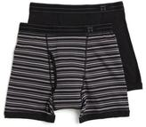 Haggar 2 Pack Stripe Boxer Brief