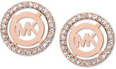 Michael Kors Mother-of-Pearl and Pavé Logo Stud Earrings
