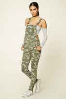 Forever 21 FOREVER 21+ Camo Print Overalls