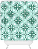 Deny Designs Jacqueline Maldonado Watercolor Green Tile 2 Shower Curtain