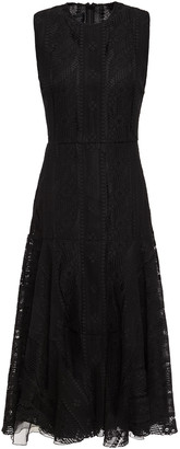 Giambattista Valli Flared Cotton-blend Lace Midi Dress