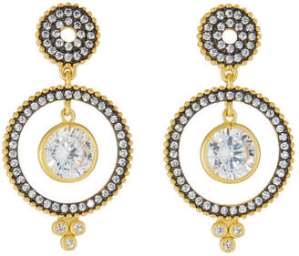Freida Rothman Front-Facing Hoop Dangle Earrings