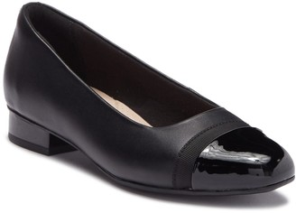 Clarks Juliet Monte Leather Stacked Heel Flat - Wide Width Available