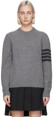 Thom Browne Grey Cashmere 4-Bar Sweater
