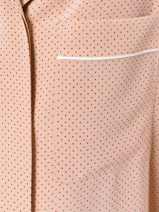 Theory polka dots shirt